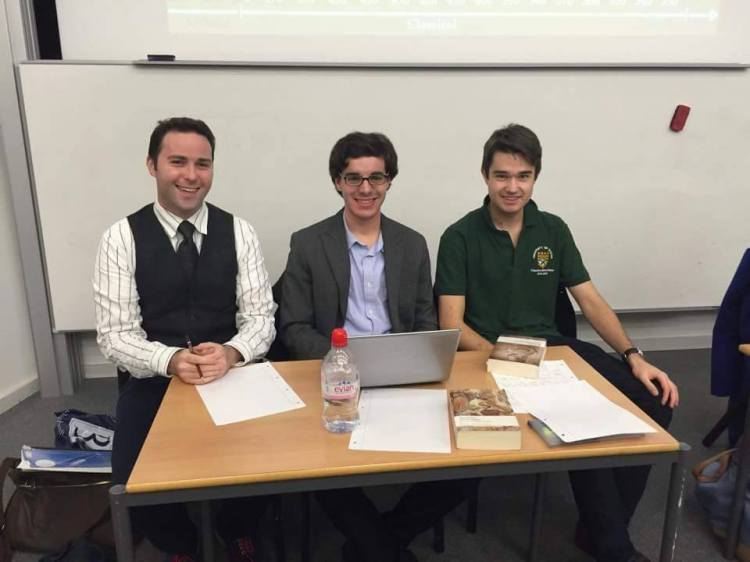 Team Herodotus! Dr Chris Farrell, Davide Scarpignato, and Jack West-Sherring